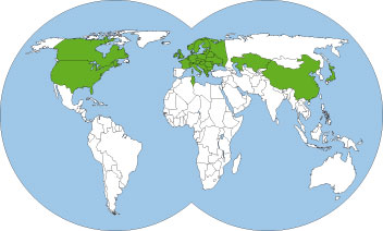 World-distribution-map-formica-rufa-wood-ant