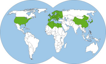 World-distribution-map-lasius-flavus-yellow-meadow-ant